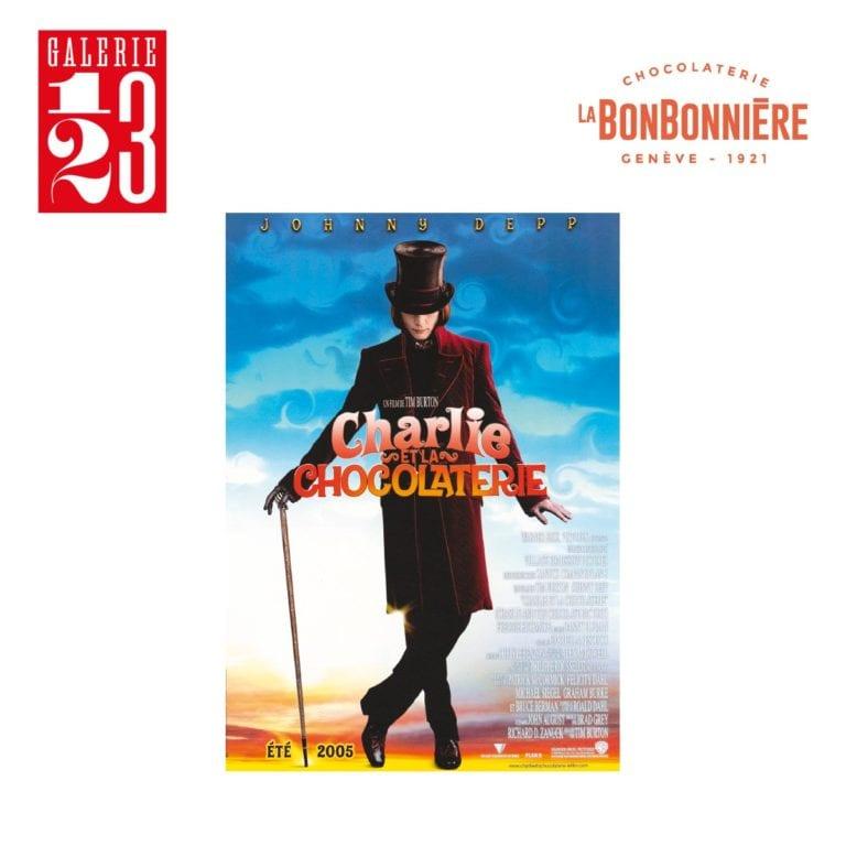 Expertisées par la Galerie 1 2 3 avec certificat d'authenticité, deux affiches originales du film Charlie et la Chocolaterie réalisé par Tim Burton en 2005.