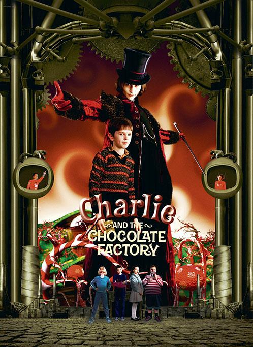 Charlie and the Chocolate Factory, format 120x160cm, entoilée et encadrée