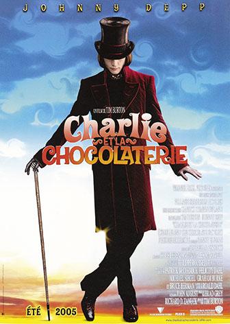 Charlie et la Chocolaterie (ci-dessus), format 40x50cm, entoilée et encadrée 50x70cm